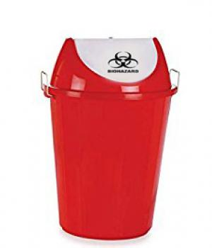 Red Colour Waste Bin (Swing)